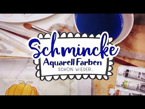 Herbst Aquarellfarben Swatchen + Bild 🍁 NEUER MALKASTEN!
