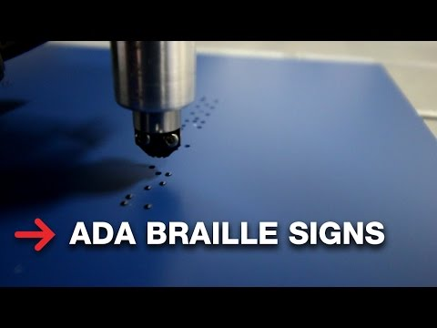 ADA Braille Signage   Making Braille Signs