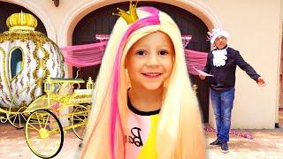 Stacy y papá se visten para una fiesta