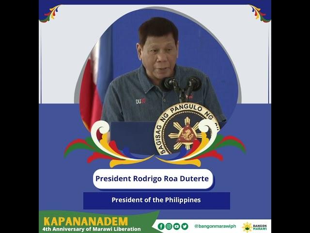 [MESSAGE OF PEACE] President Rodrigo Roa Duterte