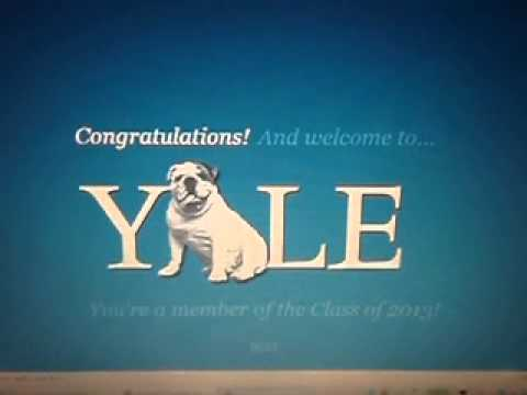 To be accepted into Yale...?
