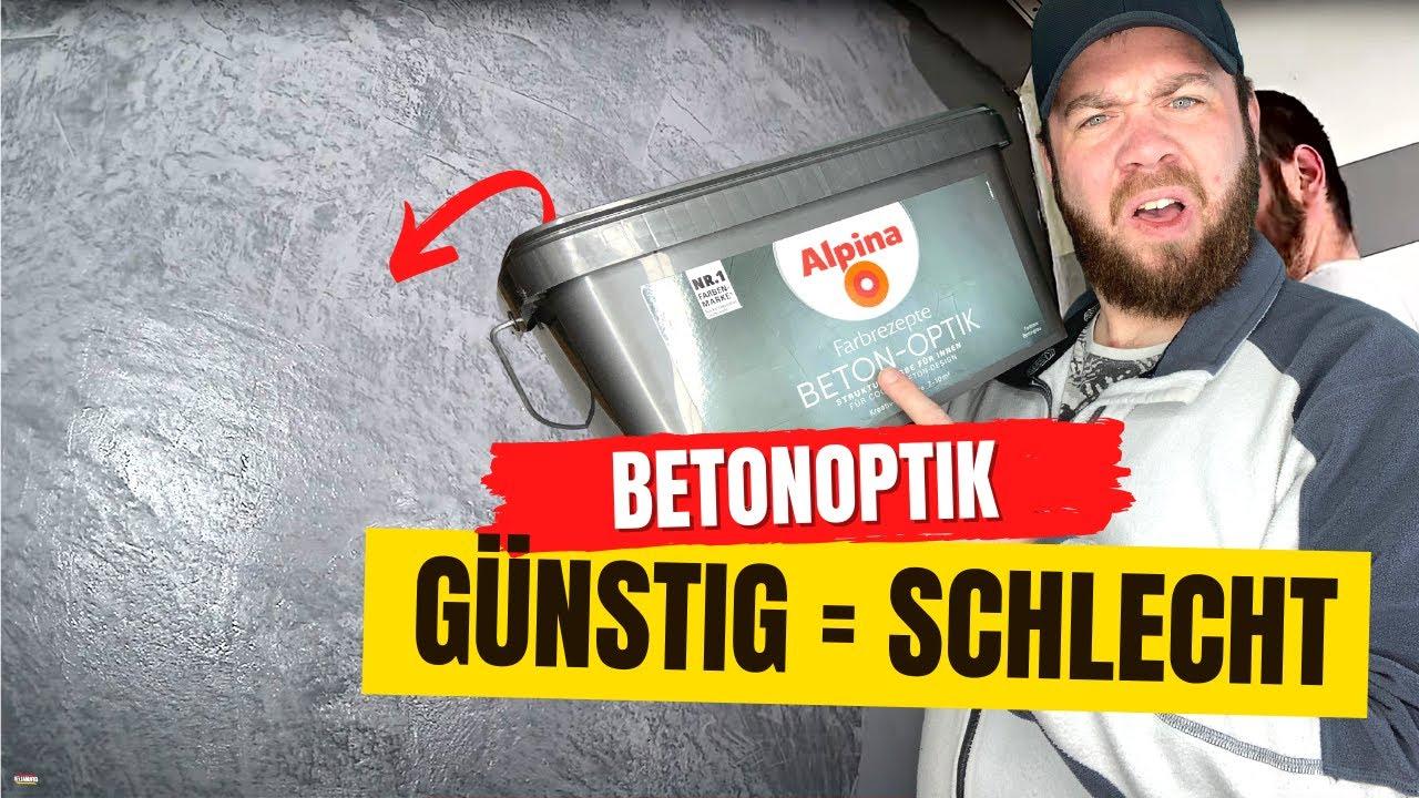 Betonoptik fr 50 I Alpina EinsteigerSpachteltechnik