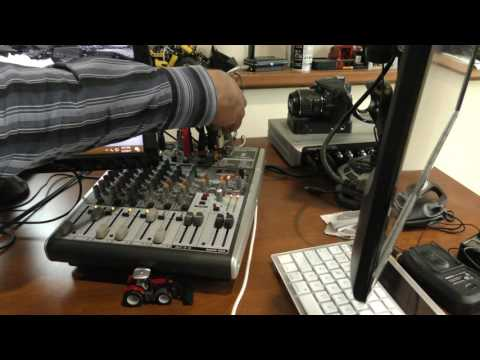 How I Have My Sound Mixer Setup Behringer X1204