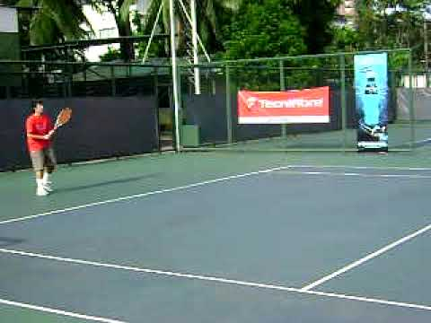 Lawrence formentera at Rizal memorial tennis courts