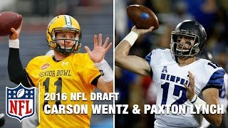 David Carr Breaks Down Carson Wentz and Paxton Lynch | Path to the 2016 NFL Draft | NFL Network