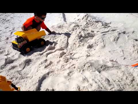 Playing In The Sand in Panama City Beach, Florida Family Fun Vacation