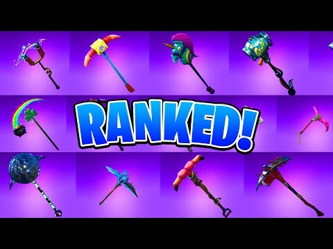 Ranking ALL 21 Epic Pickaxes In Fortnite! (Ranking ALL Harvesting Tools In Fortnite) #SoaRRC