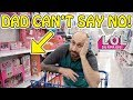 Dad Can't Say No! Shopping for L.O.L. Surprise Pop-Up Store!