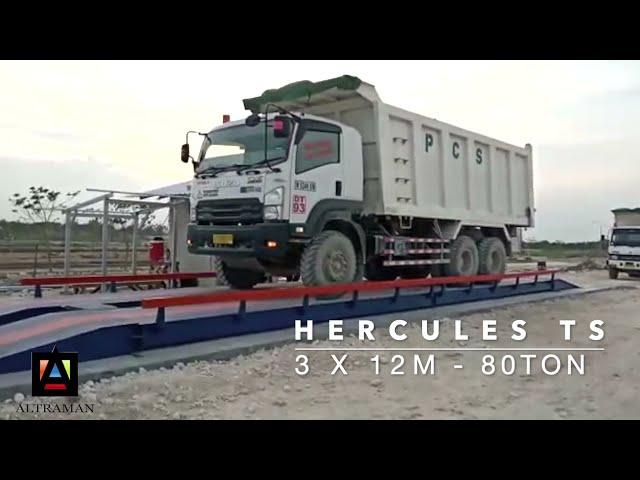 Pemasangan JEMBATAN TIMBANG HERCULES TS 3X12m kapasitas 80ton