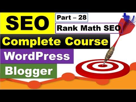 Complete SEO Course for WordPress & Blogger | Part 28 - Rank Math - Best SEO WP Plugin [Urdu/Hindi]