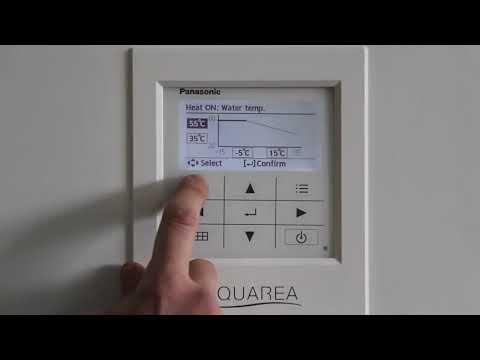 Тепловые насосы Panasonic Aquarea - Настройки