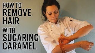 How to Remove Hair with Sugaring Caramel Thumbnail