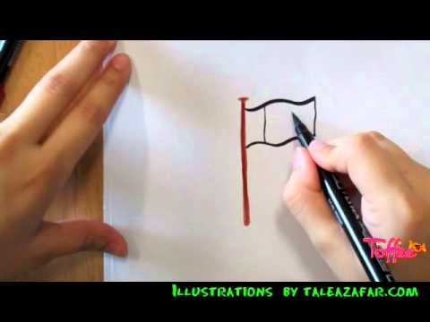 b7f577bb5442 How to draw the National Flag of Pakistan (Toffeetv.com) - YouTube