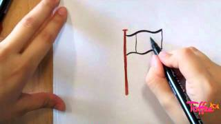 How to draw the National Flag of Pakistan (Toffeetv.com)