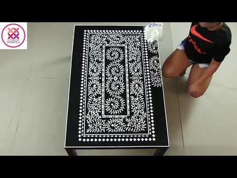 Ikea Hack: Decoring Tables With Stencils (Teaser) By Cutting Edge Stencils