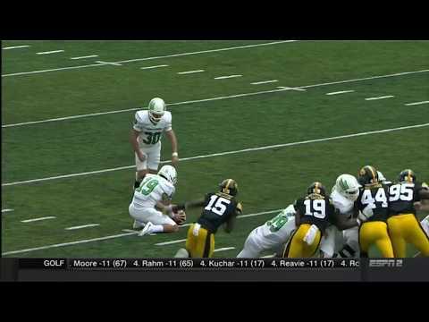 Hawkeyes Block North Texas Field Goal