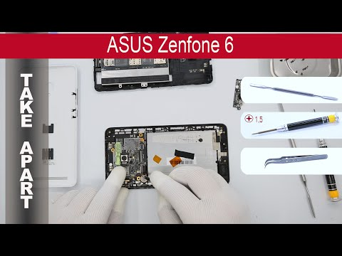 How to disassemble 📱 ASUS ZenFone 6 A600CG, Take Apart, Tutorial