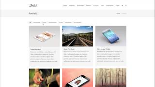 Adding Portfolio Items & Portfolio Page - Total WordPress Theme Video