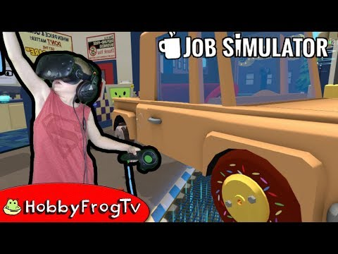 Job Simulator Auto Repar Part 1 Virtual Reality HobbyFrogTV