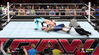 WWE2K15 ONLINE MATCH #1