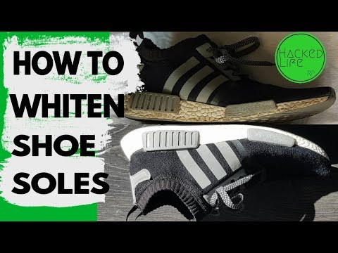 How to whiten shoe soles