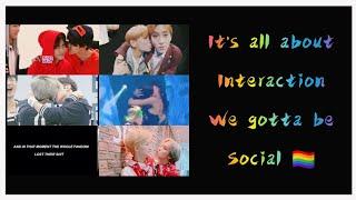 "K-pop IDOLS being ""Social"" and ""Interacting"" with their group members (☞ ͡° ͜ʖ ͡°)☞"