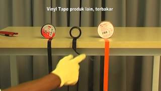 3M Vinyl Electrical Tape Vs Competition (burn test)