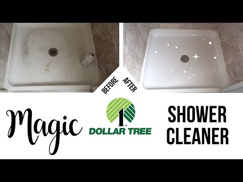 DIY Magic Shower Cleaner // Dollar Tree Cleaning Hack