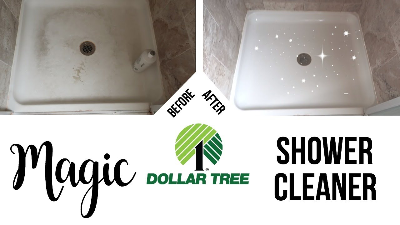DIY Magic Shower Cleaner // Dollar Tree Cleaning Hack - YouTube