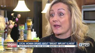 Las Vegas woman speaking out about breast implant illness