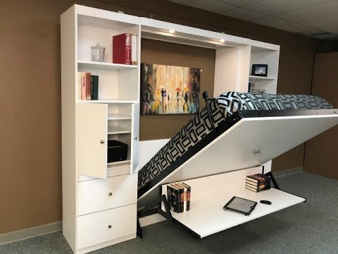 Alpine Murphy bed with Desk - YouTube
