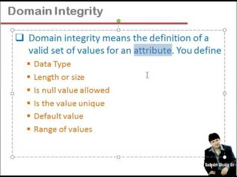 Lecture 16 Integrity Constraints in DBMS Hindi