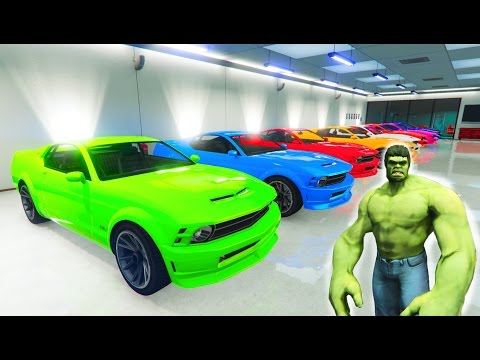 Thumbnail: LEARN COLOR CARS for kids with Hulk! Funny 3D animation cartoon for babies