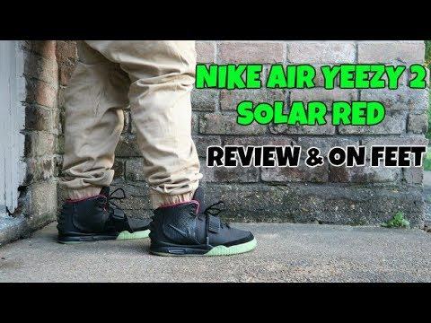 291869aa69851 NIKE AIR YEEZY 2 SOLAR RED REVIEW   ON FEET! - YouTube