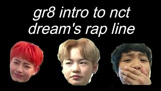 nct dream parallel universe: intro to the rap line