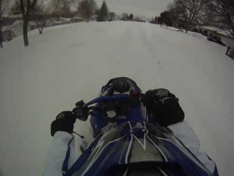 2008 Yamaha Nytro FX.  2011 Winter Storm in IL. Crash..