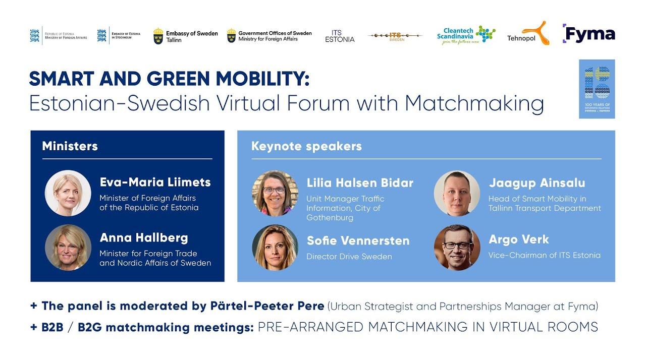 Smart and Green Mobility: Estonian-Swedish Virtual Forum and Matchmaking