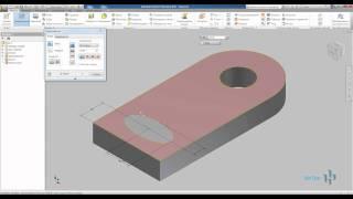 Операции выдавливание и вращение Autodesk Inventor