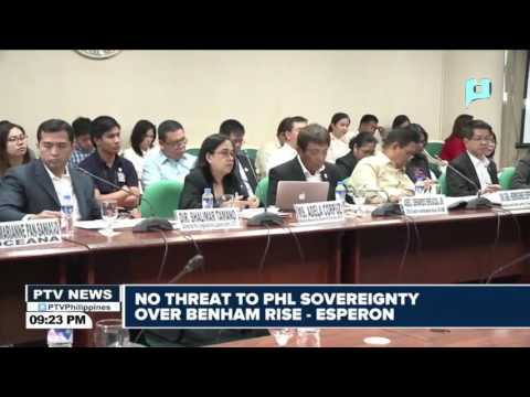Esperon: No threat to PHL sovereignity over Benham Rise