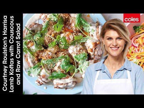 courtney-roulston's-harissa-lamb-koftas-with-couscous-&-raw-carrot-salad