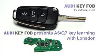 Audi key learning with Lonsdor - A6/Q7