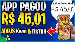 SUBSTITUTO DO Kwai e TikTok - APLICATIVO PAGANDO R$45,01 MUITO RÁPIDO PARA JOGAR