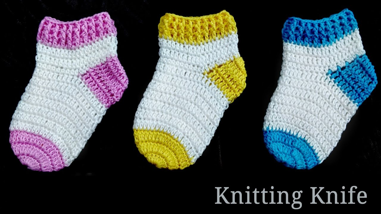 How To Crochet Perfect Shaped Baby Socks 🧦 Easy Tutorial