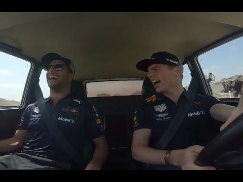 Funny: Max Verstappen & Daniel Ricciardo in a car | F1 Azerbaijan GP 2018