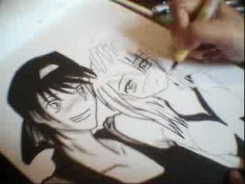 Anime Couple Drawing And Inking
