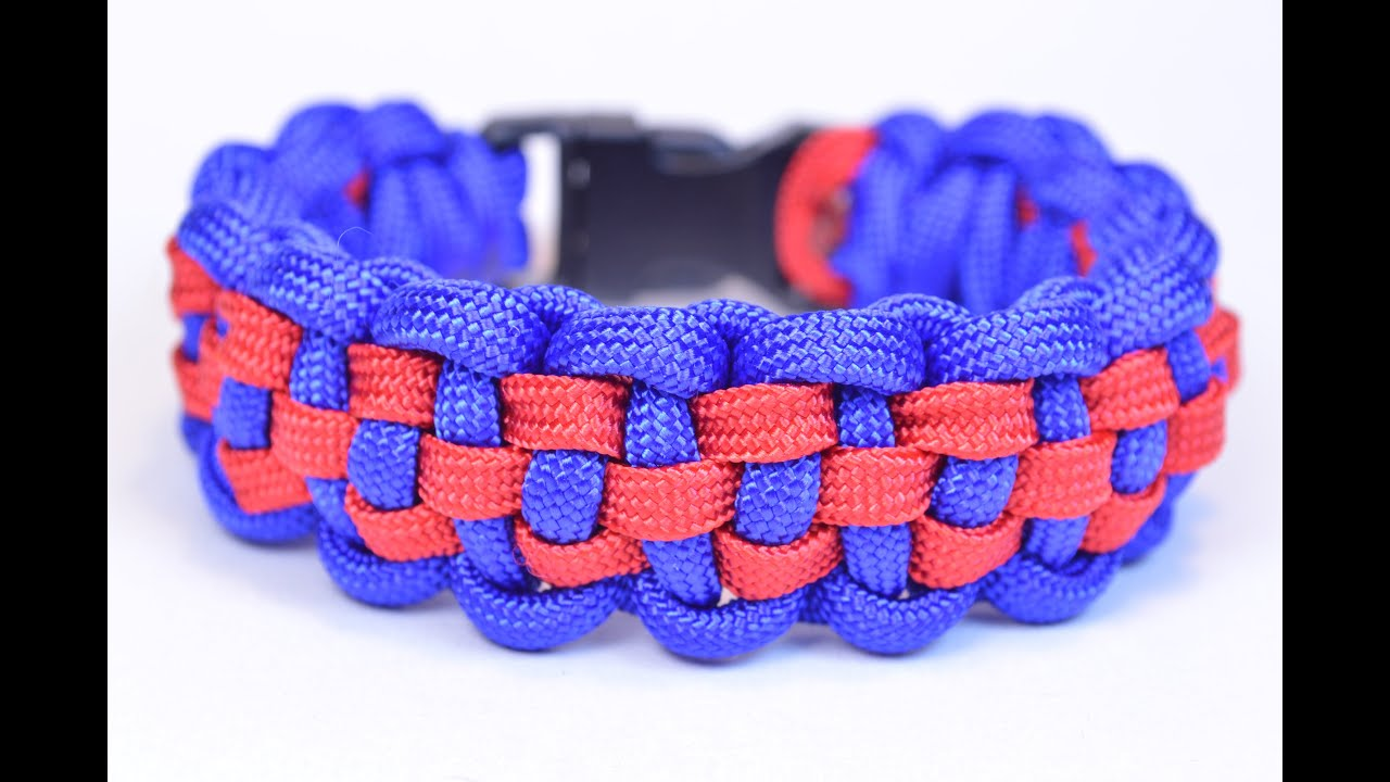 Make a Checkered Pattern Paracord Survival Bracelet - BoredParacord