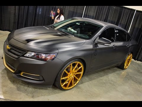 chevy impala on gold and black vossen wheels at am youtube. Black Bedroom Furniture Sets. Home Design Ideas