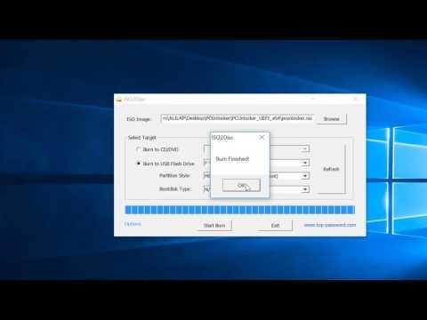Tutorial - Reset Forgotten Windows Password With PCUnlocker USB Drive