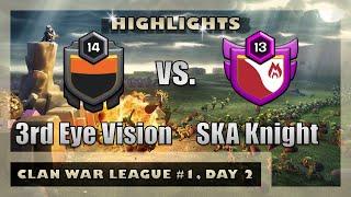 3rd Eye Vision vs. SKA Knight | League War Highlights | Clash of Clans