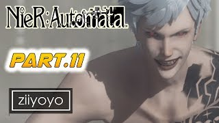 Nier: Automata  Gameplay Walkthrough Part 11 [1080p HD 60FPS PC ULTRA] - No Commentary